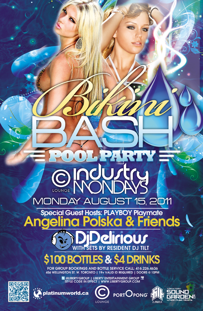 TorontoNightclub.com - Bikini Bash Pool Party Mon Aug 15 at C Lounge